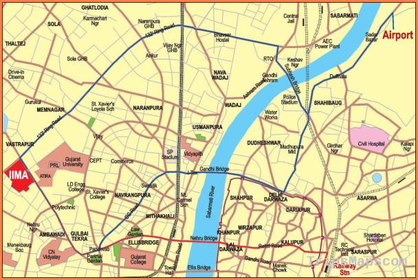 Ahmedabad Map TripsMapsCom