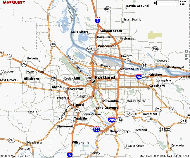 Portland Map - Travel | Map