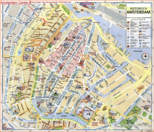 map of amsterdam | Amsterdam City Tourist Map See map details From