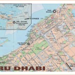 Large road map of central part of Abu Dhabi
