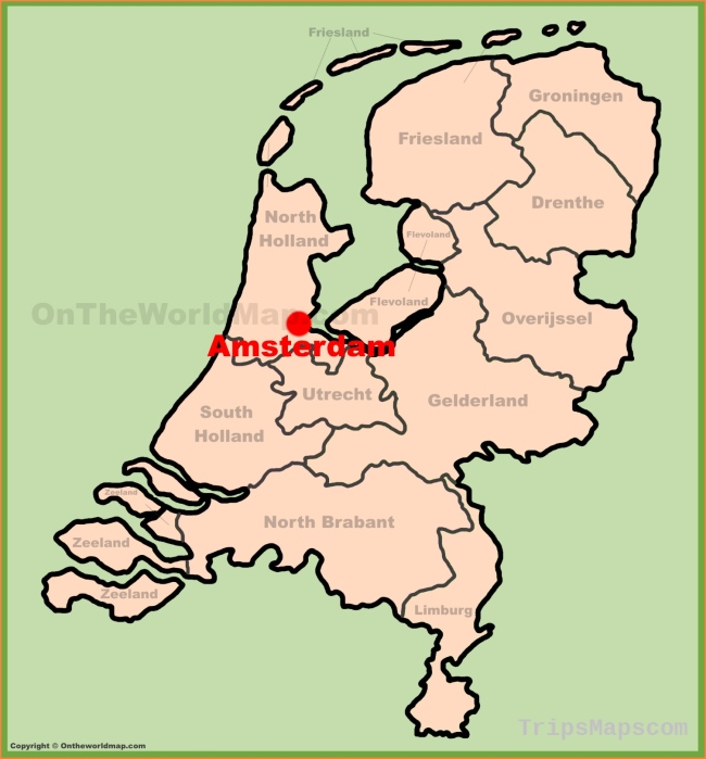 Where Is Amsterdam Amsterdam Maps Travel Map