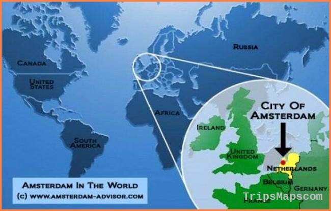 Where Is Amsterdam - Location of Amsterdam on the World Map
