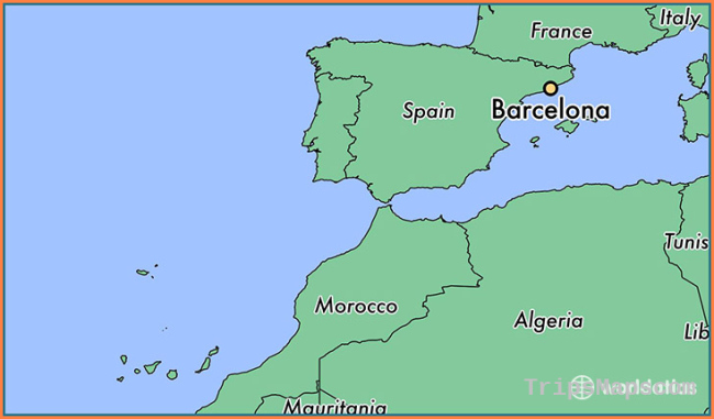 Map Of Spain With Barcelona.Where Is Barcelona Barcelona Maps Travel Map