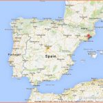 Barcelona on Map of Spain