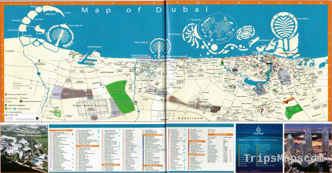 Maps of Dubai | Detailed map of Dubai city in English | Maps of