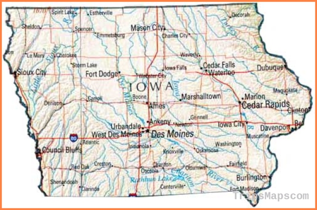 Map of Iowa, IA state map