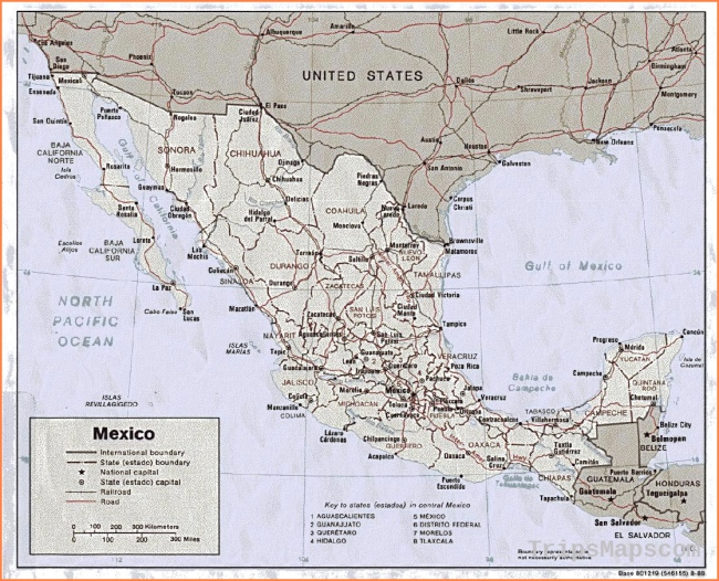 Mexico maps | Printable maps of Mexico for download