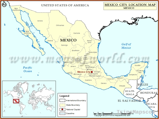 Where is Mexico City | Location of Mexico City in Mexico Map