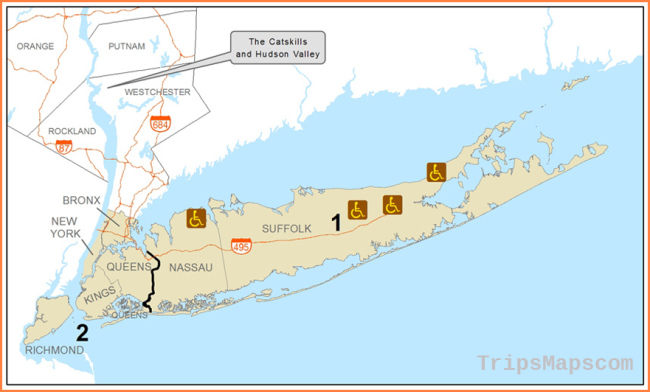New York City and Long Island Accessible Recreation Map - NYS Dept