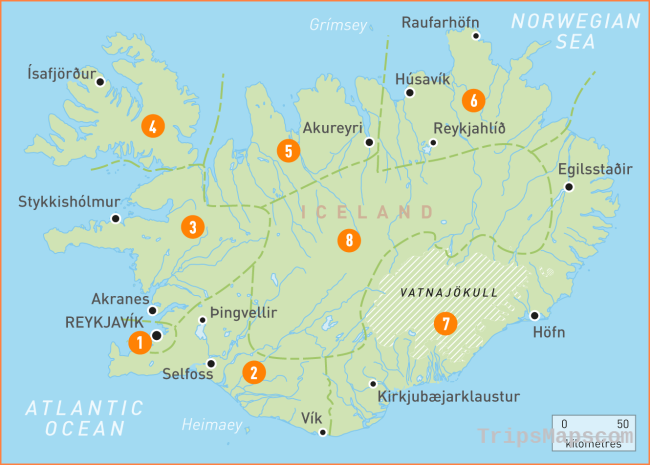 Map of Iceland | Iceland Regions