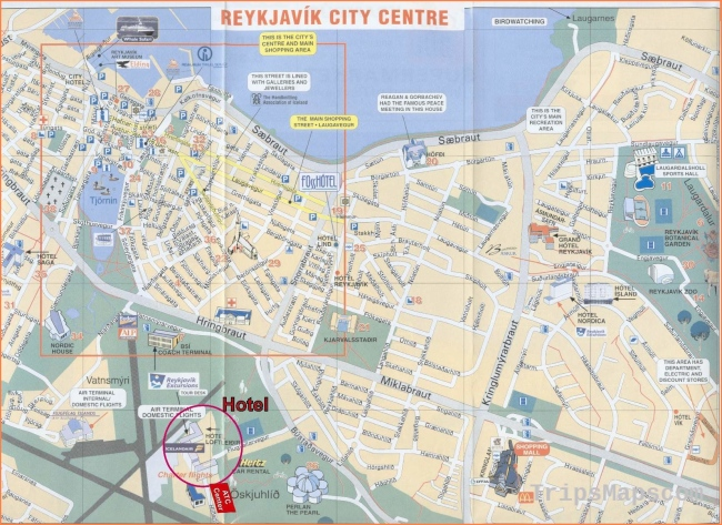 Large Reykjavik Maps for Free Download and Print