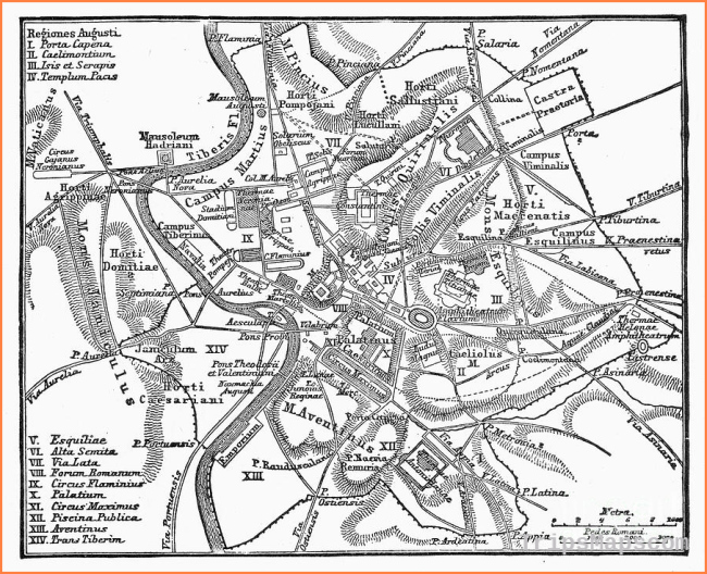 Roman Empire: Map Of Rome Photograph by Granger