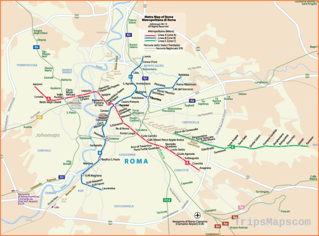 Metro Map of Rome - JohoMaps