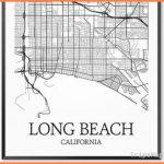 Items similar to Long Beach Map Print, Long Beach Art Poster Custom ...