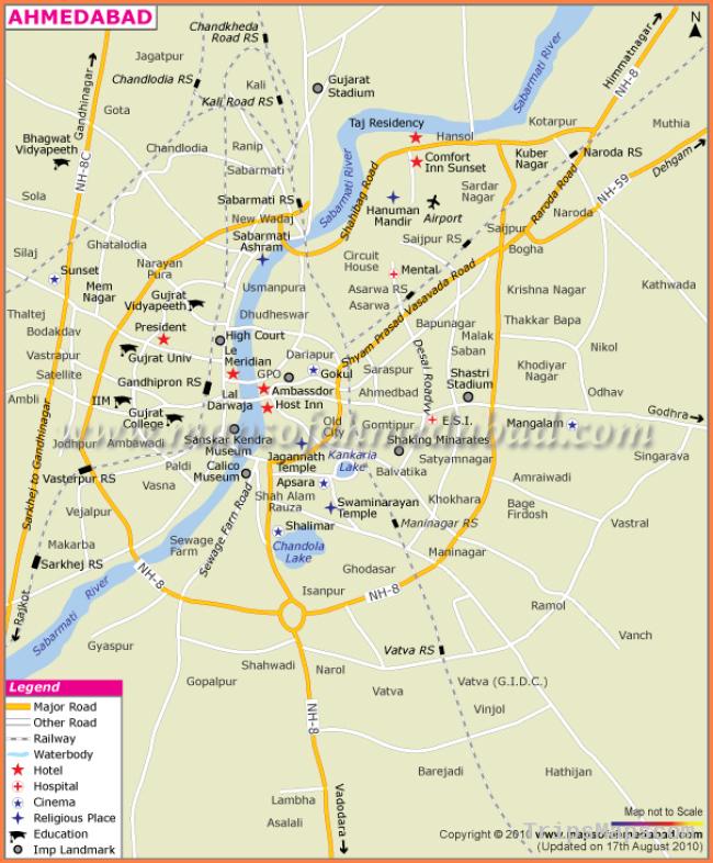 Ahmedabad City Map | Maps of Ahmedabad