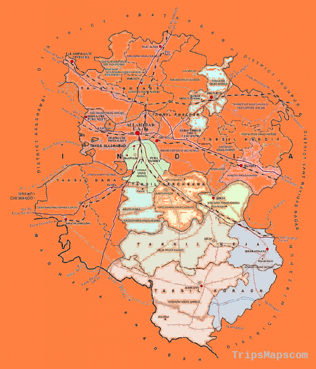 Map of District | District Allahabad, Government of Uttar Pradesh