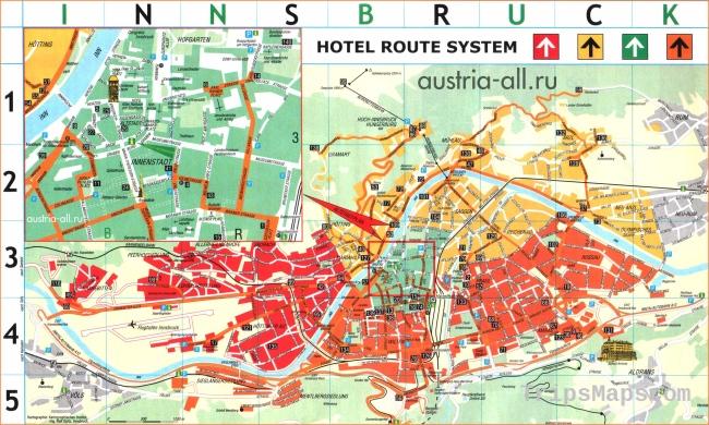Innsbruck Map - Detailed City and Metro Maps of Innsbruck for