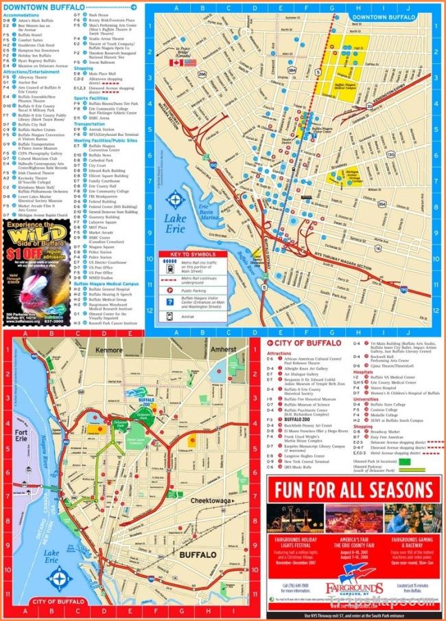 Buffalo tourist map | Maps | Pinterest | Tourist map, Usa cities and
