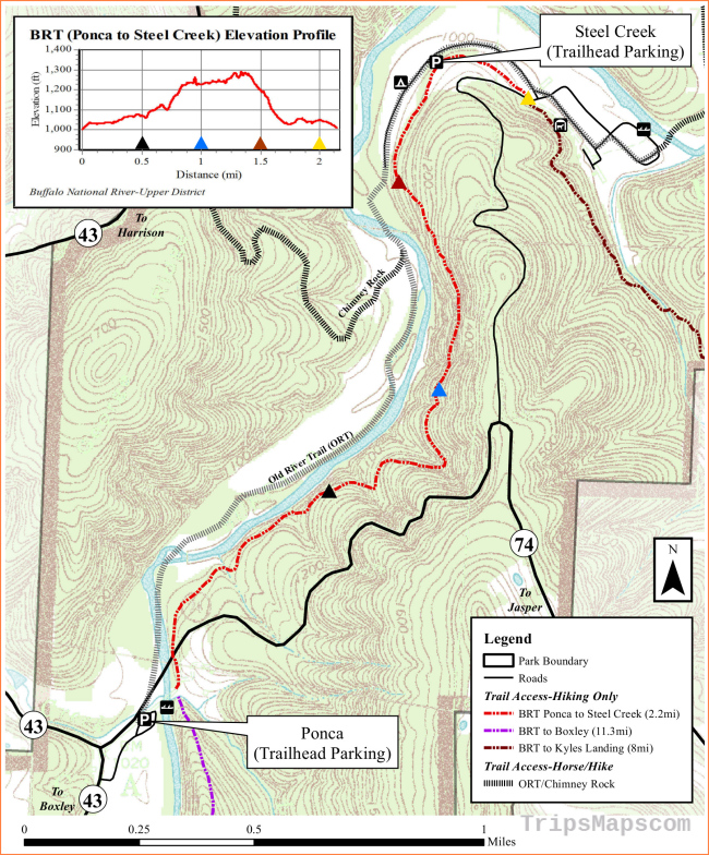 Buffalo River Maps | NPMaps.com - just free maps, period