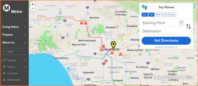 LA Metro's new online trip planner – Points of interest