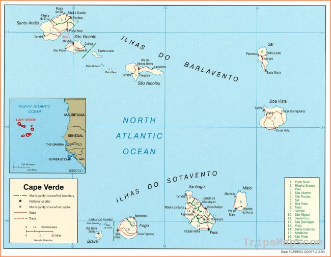Cape Verde Maps - Perry-Castañeda Map Collection