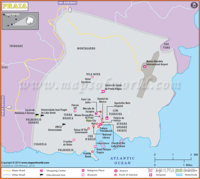 Praia Map | Map of Praia City, Cape Verde