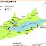 Lake Erie drainage basin map