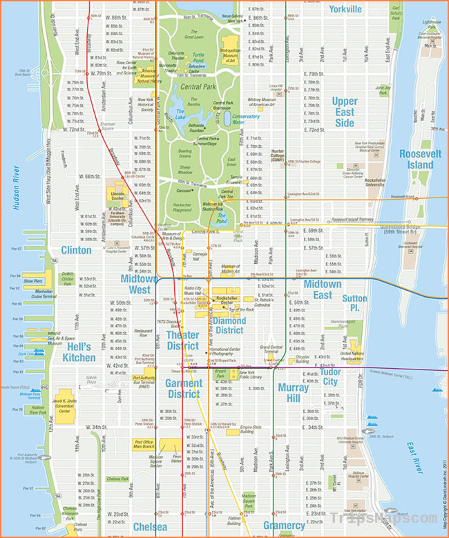 Maps for Travel Guides—NYCVB & Others