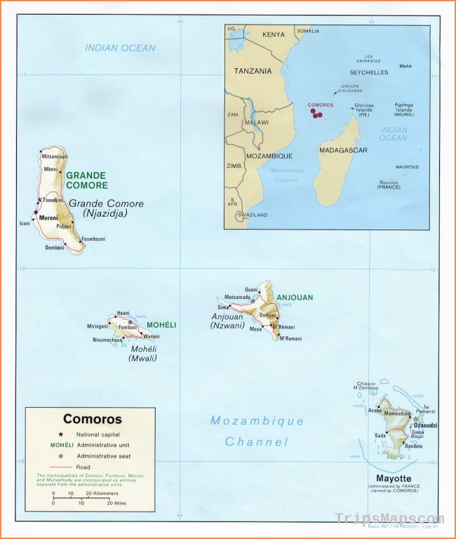 Comoros Maps - Perry-Castañeda Map Collection -