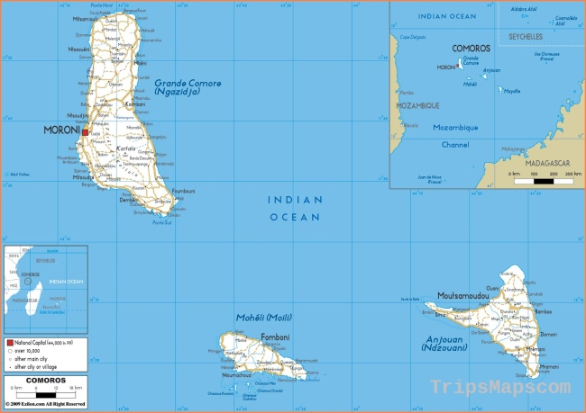 maps of Comoros