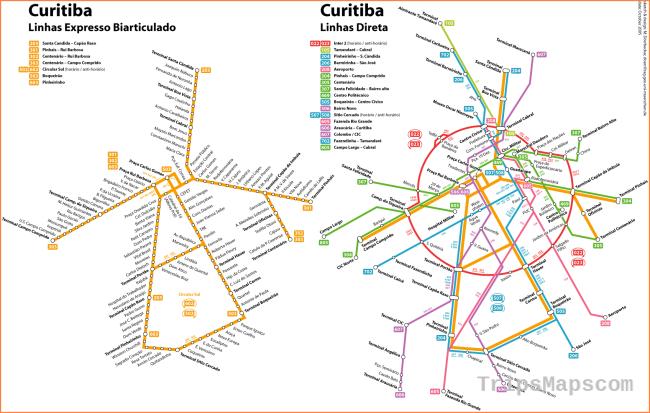 Curitiba Ubication, Localisation & Access Map, Brazil