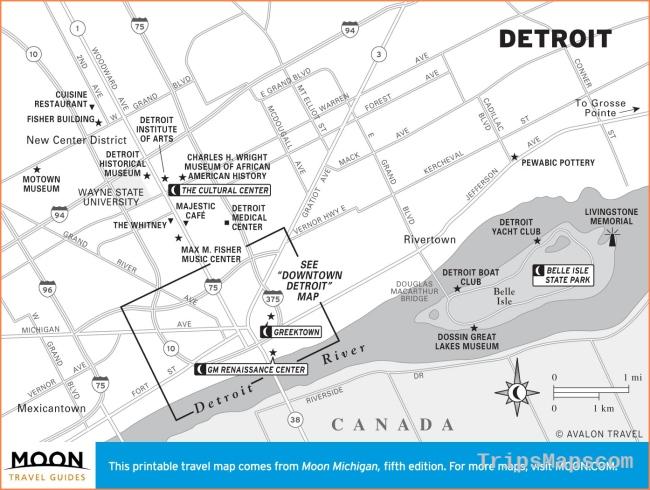 Printable Travel Maps of Michigan