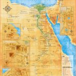 Ancient Egypt Map - Illustrative overview map highlighting the main