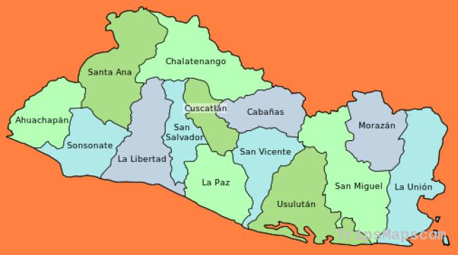 Departments of El Salvador