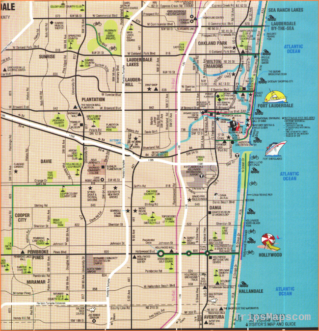 21 beautiful Fort Lauderdale Florida Map