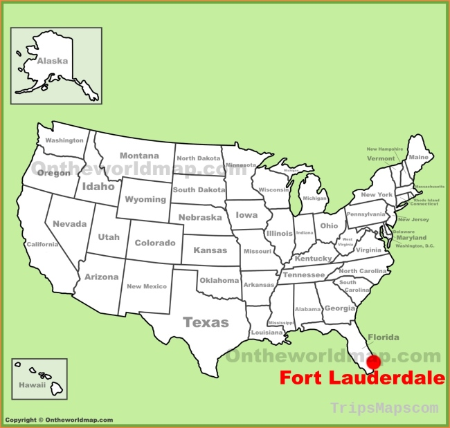Fort Lauderdale Maps | Florida, U.S. | Maps of Fort Lauderdale