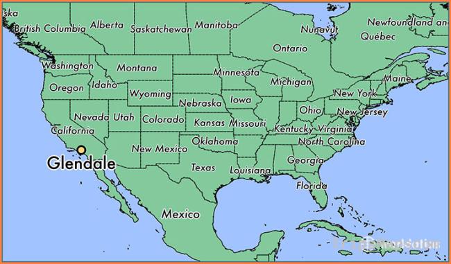 Where is Glendale, CA? / Glendale, California Map