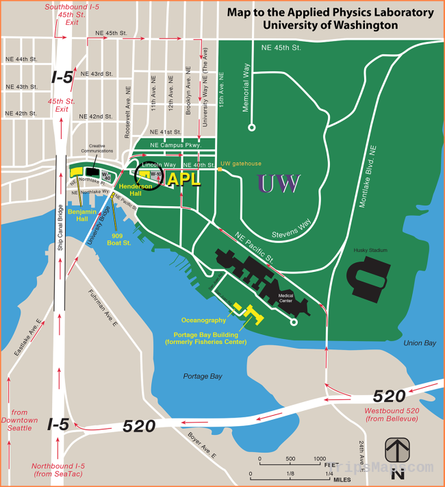 APL-UW Website - Maps and Directions to