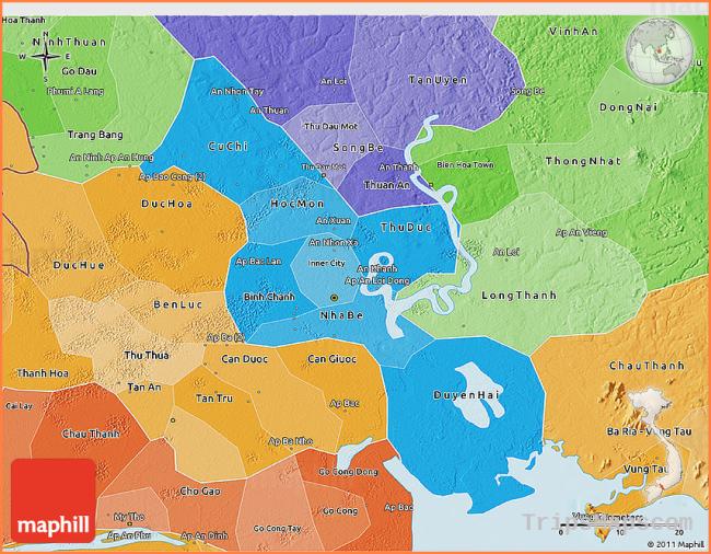 Map Of Ho Chi Minh City Vietnam Where Is Ho Chi Minh City Vietnam