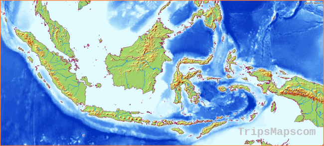 Maps of Indonesia | Detailed map of Indonesia in English