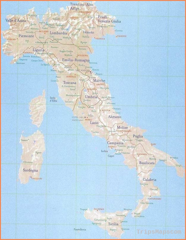 Detailed Map Of Italy In English.Map Of Italy Where Is Italy Italy Map English Italy Maps For