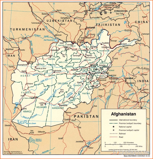Maps of Afghanistan