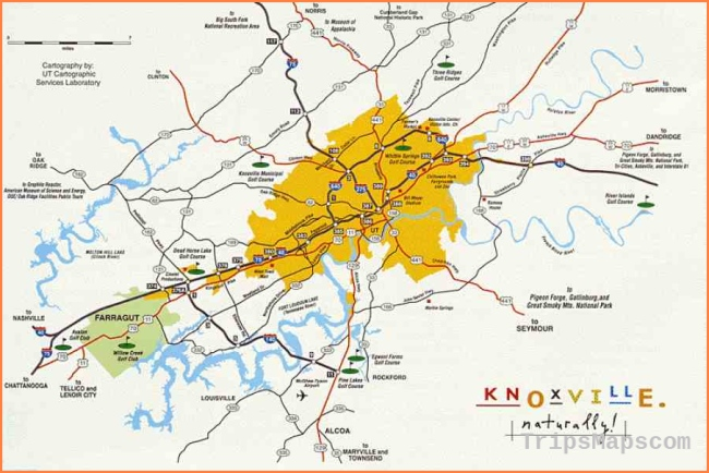 Tennessee travel maps