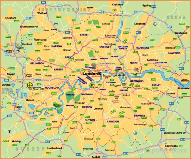 Map of London United Kingdom | Where is London United ...