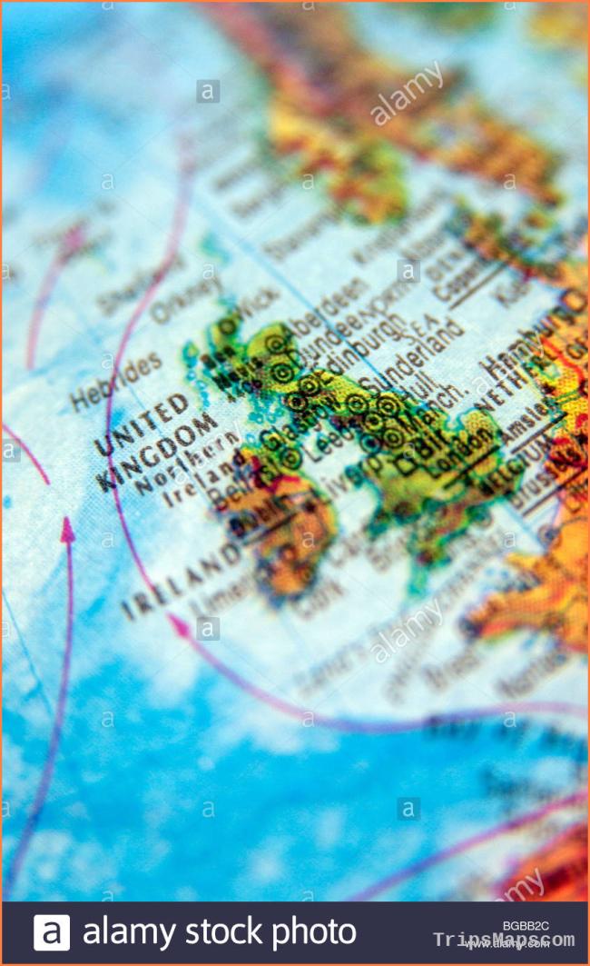 Photograph of UK england united kingdom maps globe travel atlas