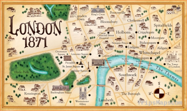 London Map and Images of London Map