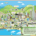 Travel map of Los Angeles city. Los Angeles city travel map