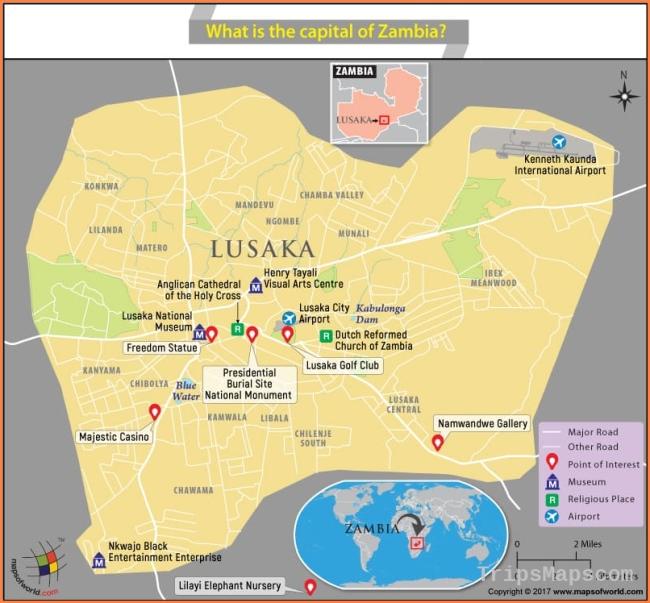 Lusaka Zambia Map.Map Of Lusaka Zambia Where Is Lusaka Zambia Lusaka
