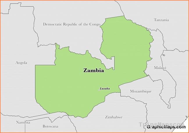 Zambia - GraphicMaps.com