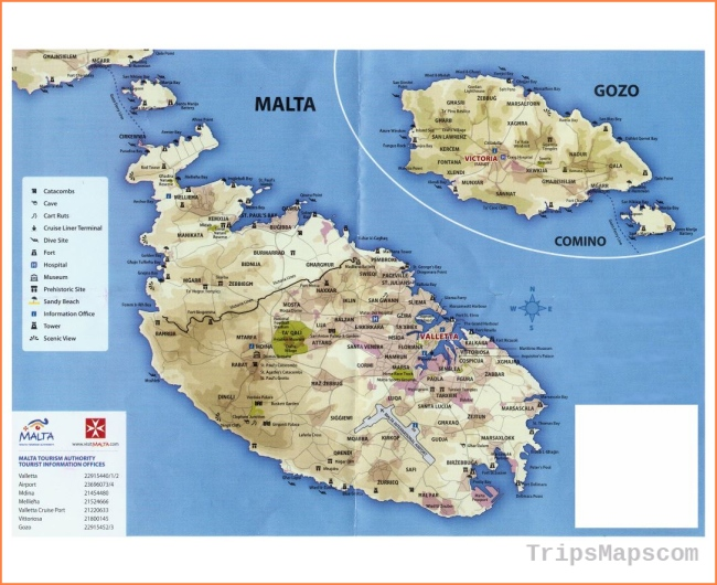Map of Malta | Where is Malta? | Malta Map English | Malta ...